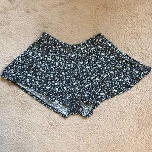 Floral Cotton Shorts